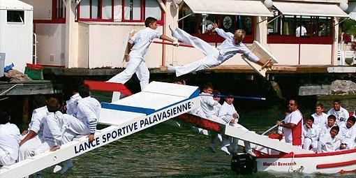 Les joutes à Palavas-les-Flots